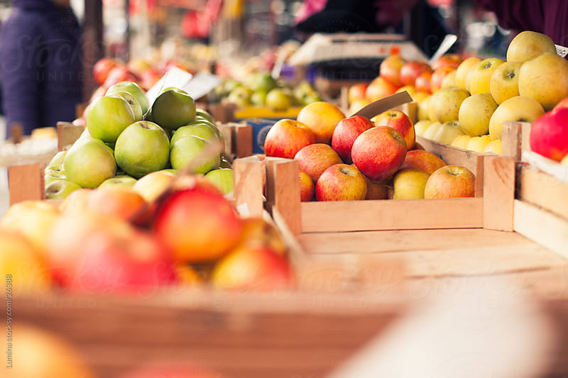 Apples at the Marketplace by Lumina for Stocksy United