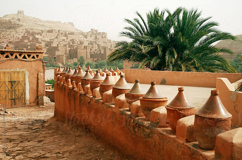 Arriving at Ait Benhaddou. Fortified mudbrick kasbah, Ouarzazate, Morocco by Bisual Studio for Stocksy United