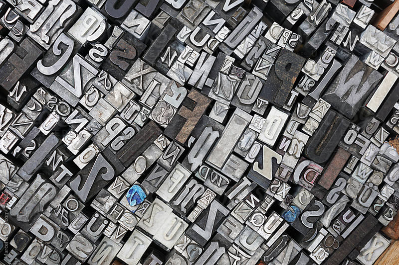 Used print letter background by Marcel for Stocksy United