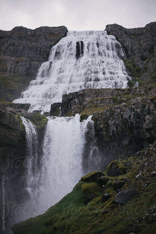 Dyjandi Waterfall in the west fjords in Iceland by Daring Wanderer for Stocksy United