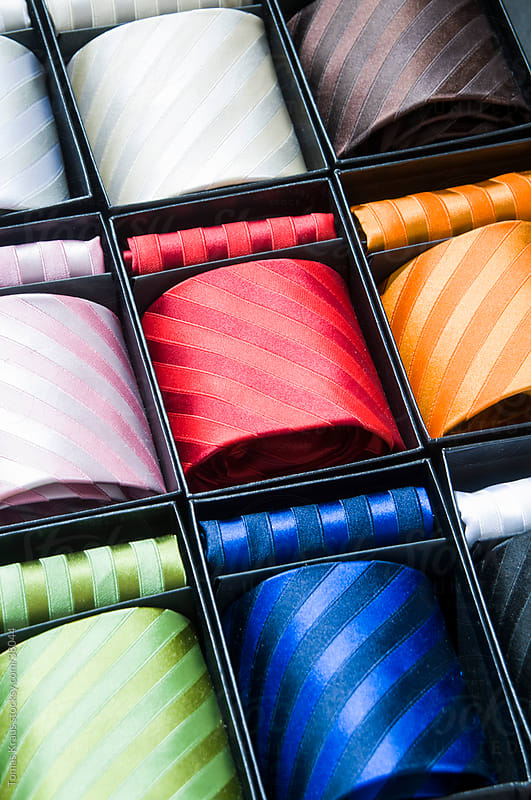 color ties by Tomas Kraus for Stocksy United