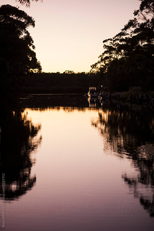 Sussex Inlet River at Dawn by Reece McMillan for Stocksy United