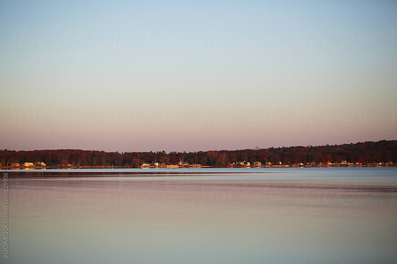 Sunrise Over A Calm Autumn Lake On A Clear Morning by ALICIA BOCK for Stocksy United