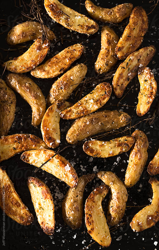 Roasted Fingerling Potatoes  by Jeff Wasserman for Stocksy United