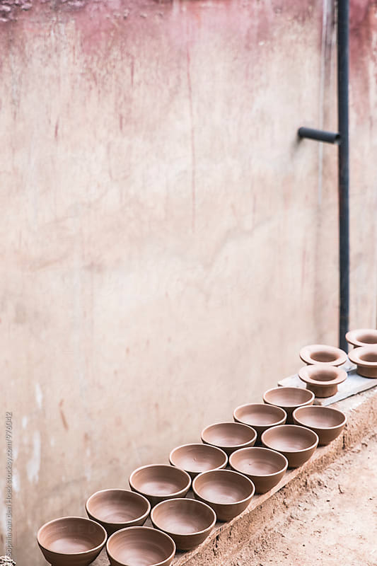 Moroccan pottery by Sophia van den Hoek for Stocksy United