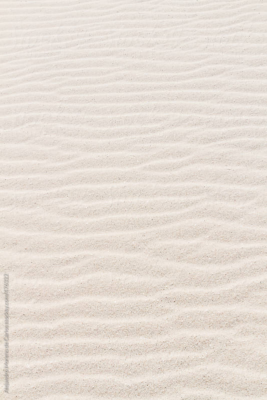 Texture of white sand on a beach by Alejandro Moreno de Carlos for Stocksy United