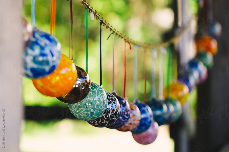 Colorful Hand Blown Glass Ball Ornaments by kelli kim for Stocksy United