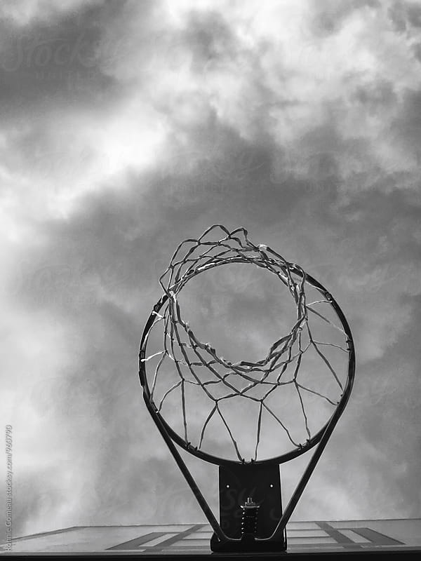 Basketball Hoop From Below by Ronnie Comeau for Stocksy United