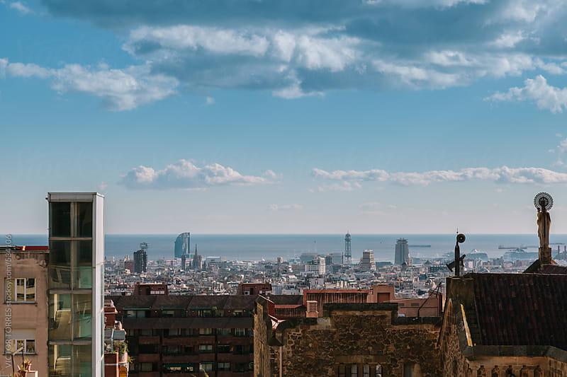 Barcelona Downtown Skyline by VICTOR TORRES for Stocksy United