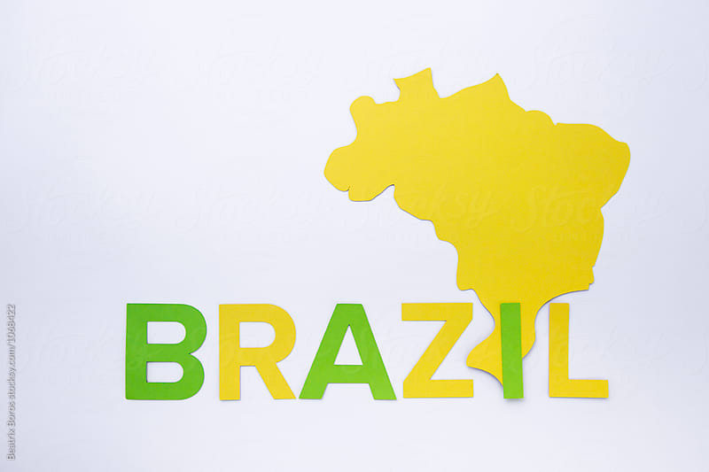 Brazilian country shape with its name by Beatrix Boros for Stocksy United