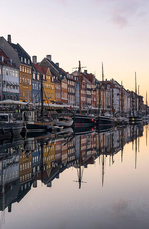 Copenhagen, Denmark - Nyhavn at Sunrise by Tom Uhlenberg for Stocksy United