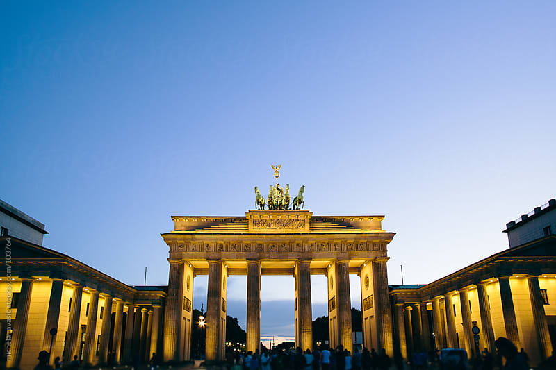 The Brandenburg Gate in Berlin by michela ravasio for Stocksy United