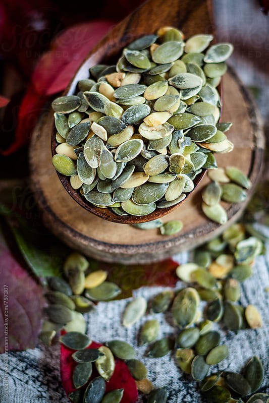 Pumpkin seeds by Susan Brooks-Dammann for Stocksy United