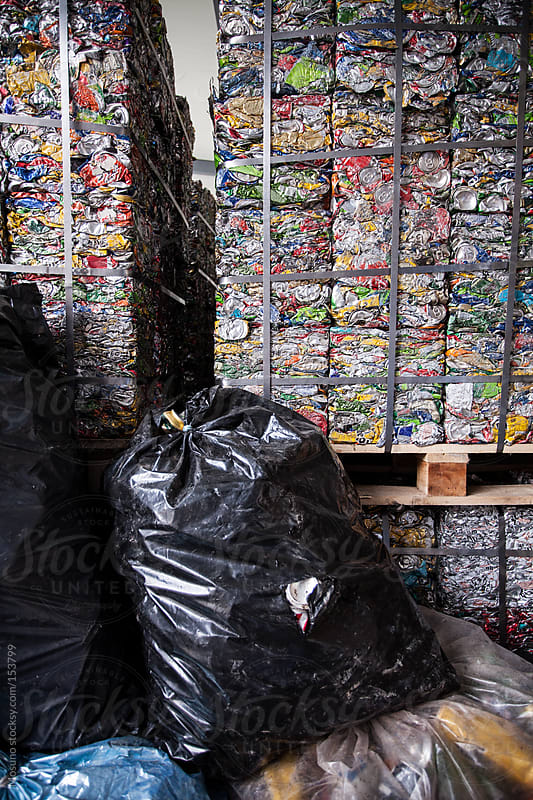 Packed Garbage in a Recycle Factory by Mosuno for Stocksy United