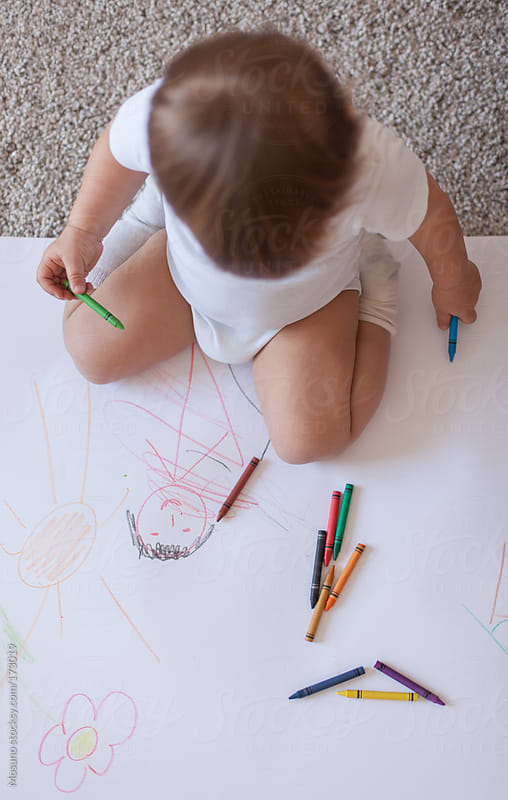 Baby Boy Drawing by Mosuno for Stocksy United
