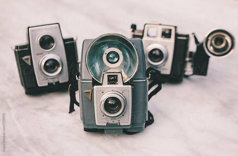 Vintage photographic cameras. by kkgas for Stocksy United