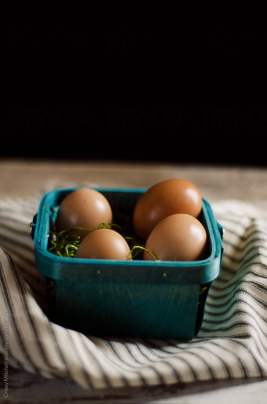 brown eggs by Crissy Mitchell for Stocksy United