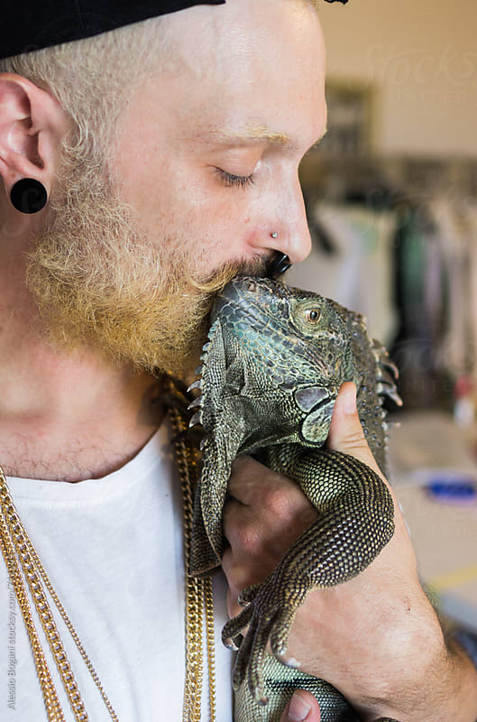 Iguana kiss by Alessio Bogani for Stocksy United