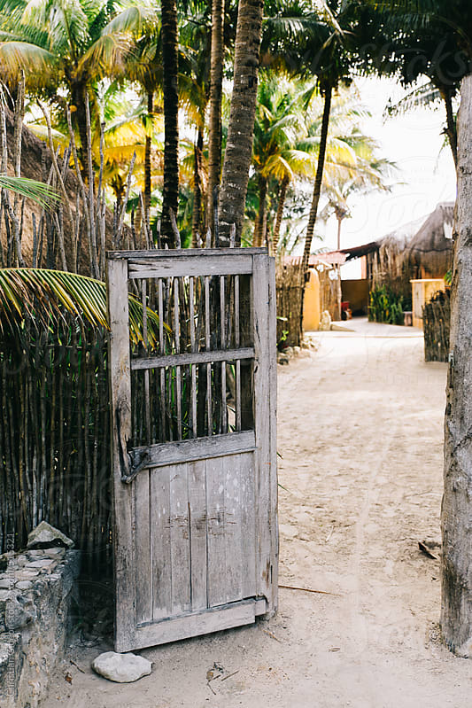 Rustic Wooden Door at beach by Christian Gideon for Stocksy United