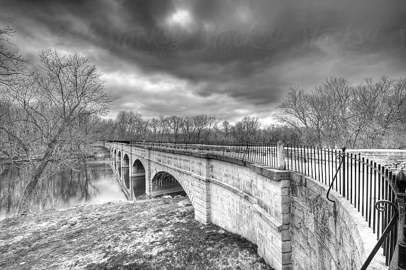 Aqueduct on stormy day by Brian McEntire for Stocksy United