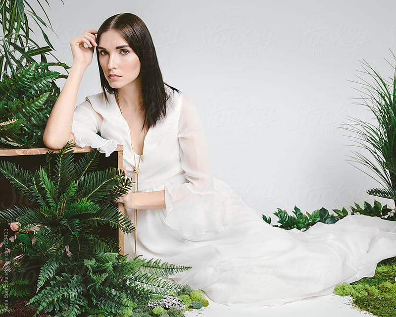 A beautiful bride in a studio by Ania Boniecka for Stocksy United