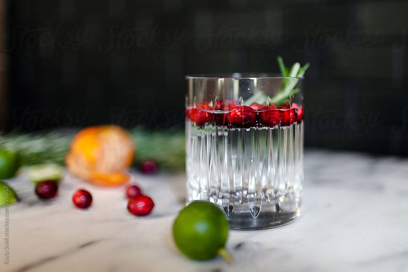 Holiday cocktail by Kayla Snell for Stocksy United