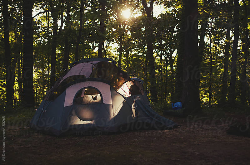 Camping Tent by Ali Deck for Stocksy United