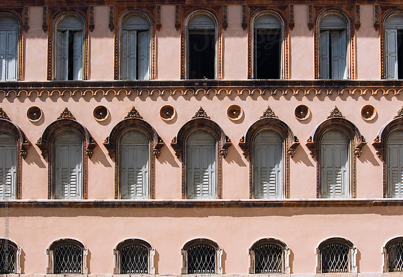 Baroque pink building facade.Venice/Italy by Marko Milanovic for Stocksy United
