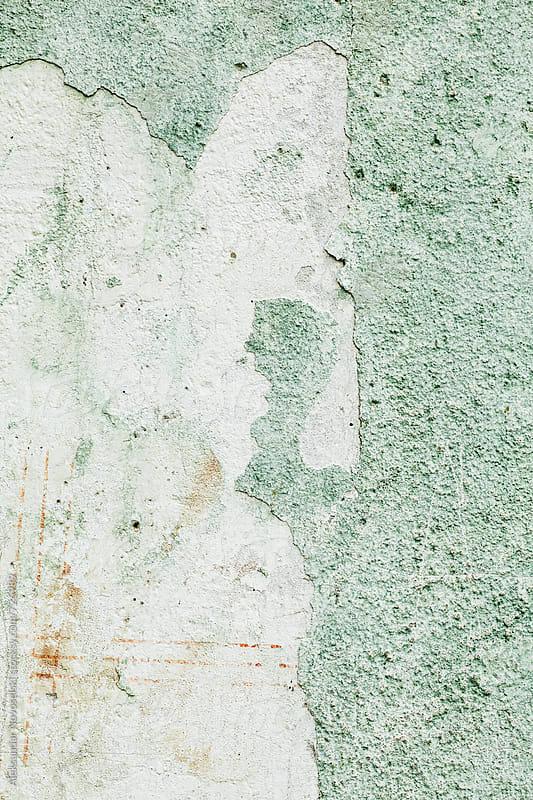 Old green wall texture by Aleksandar Novoselski for Stocksy United