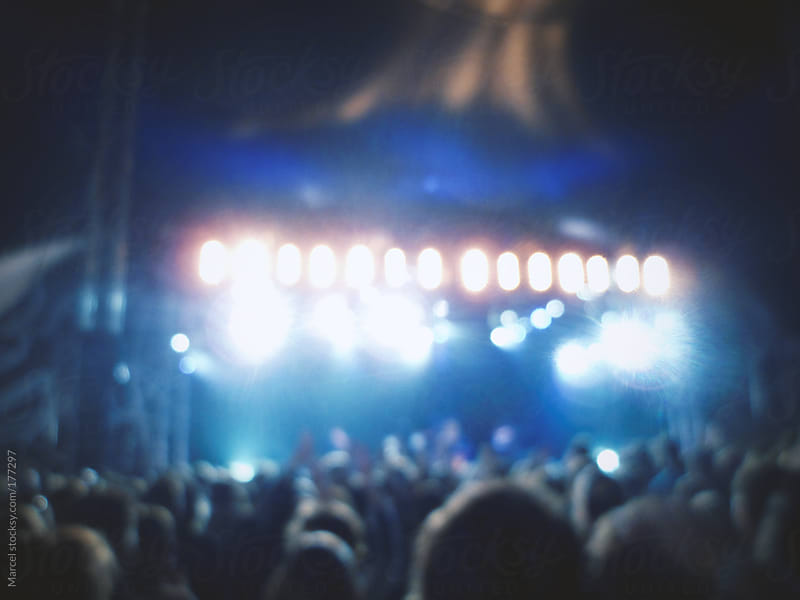 Crowd at a concert during a festival by Marcel for Stocksy United