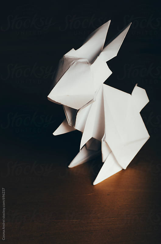 Origami paper rabbit by Cosma Andrei for Stocksy United