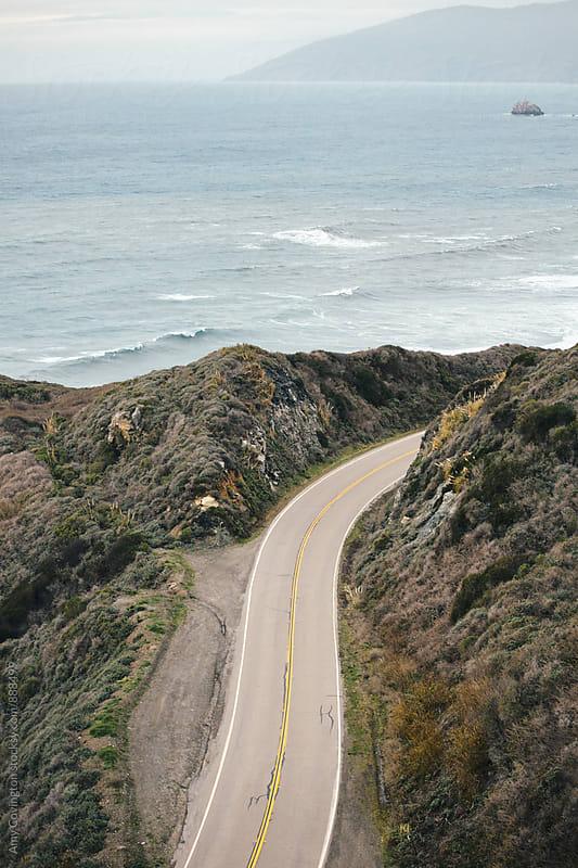 Rocky Coastal Highway  by Amy Covington for Stocksy United