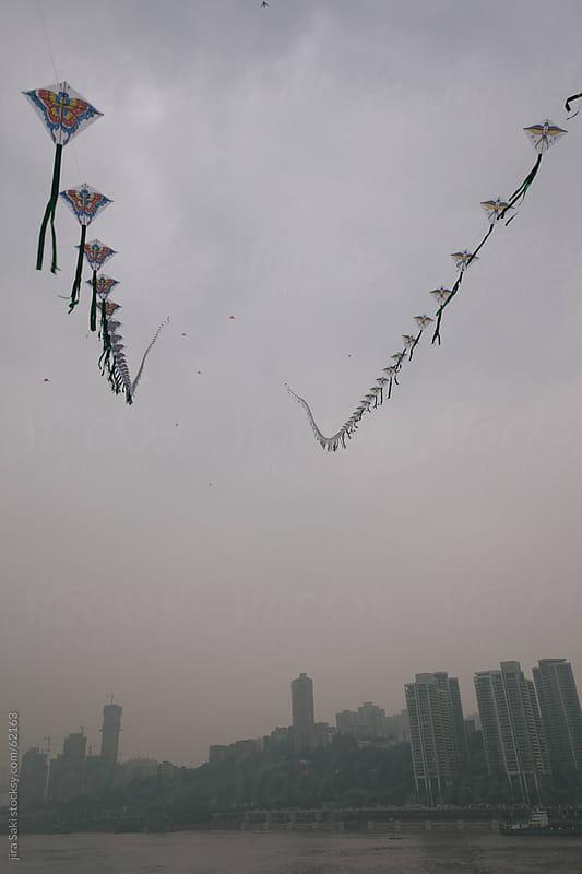 kites at Yangtze River by jira Saki for Stocksy United