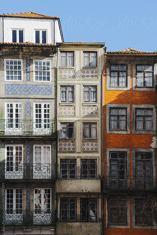 Colorful Facades of Porto Ribeira, Portugal by Luca Pierro for Stocksy United