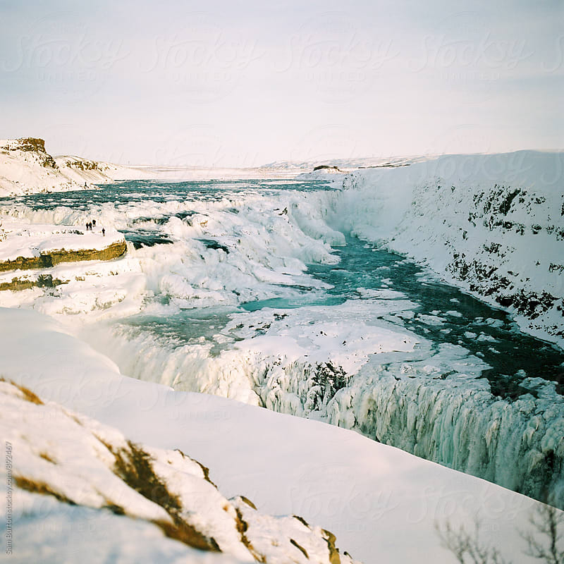 Gulfoss waterfall in winter by Sam Burton for Stocksy United