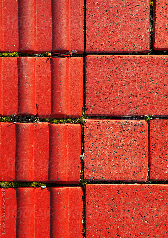 red brick background by Sonja Lekovic for Stocksy United