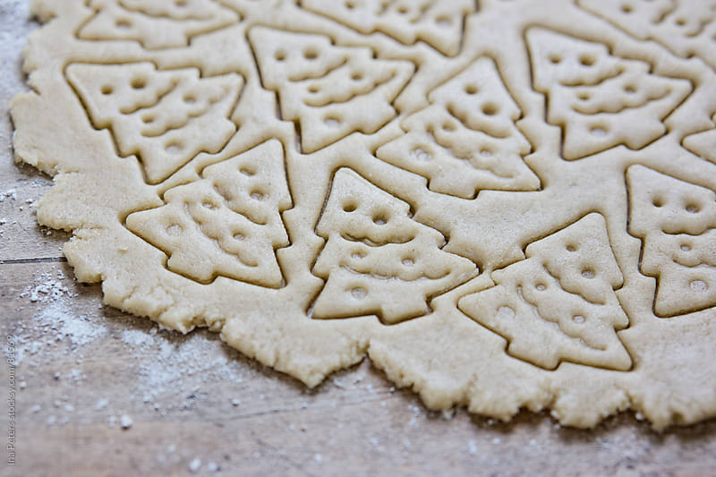 Food: Raw christmas tree cookies by Ina Peters for Stocksy United