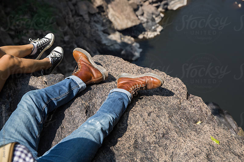 Couple taking a break - enjoying the view  by Jovo Jovanovic for Stocksy United