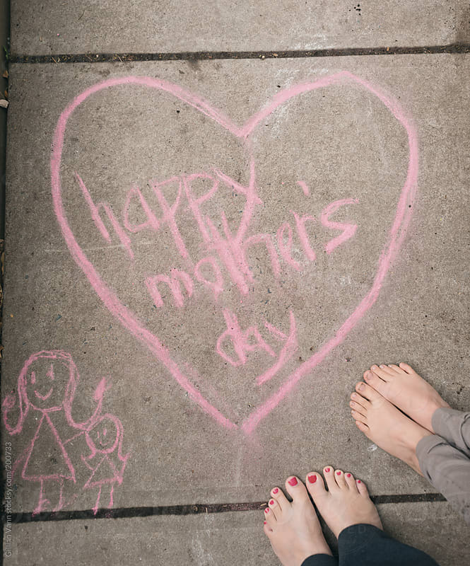happy mother's day sign in chalk, May 14, 2017 in Canada, USA, Australia, NZ, South Africa and ...  by Gillian Vann for Stocksy United