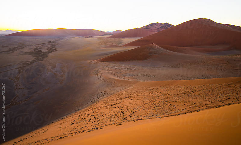 Sand dunes at sunrise, Namibia, Africa by Jaydene Chapman for Stocksy United