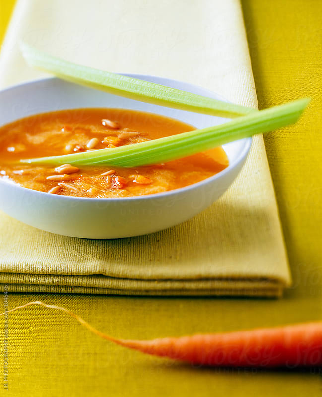 Carrot soup by J.R. PHOTOGRAPHY for Stocksy United