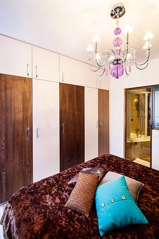 Bedroom in a contemporary interior by Aleksandar Novoselski for Stocksy United