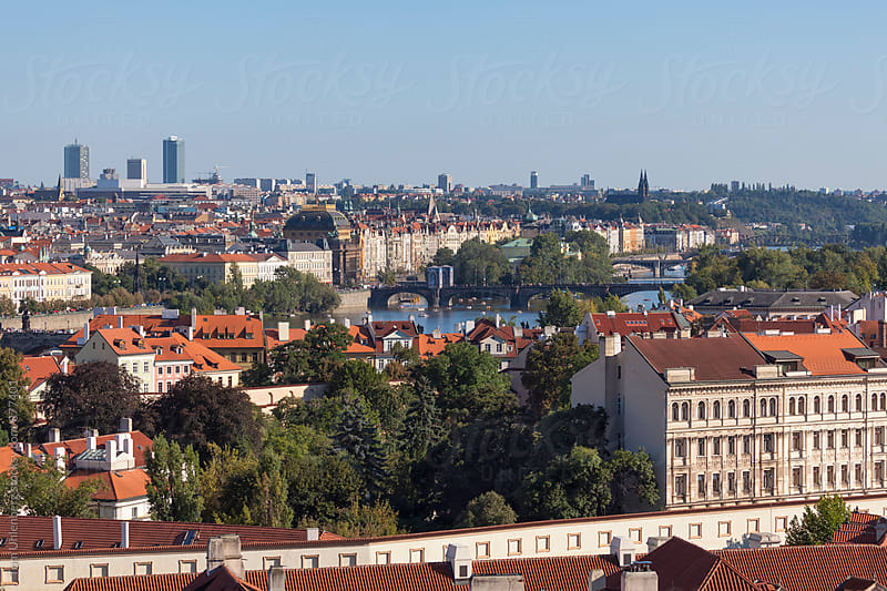 Prague, the Czech Republic - Panorama of the City on a Sunny Day by Tom Uhlenberg for Stocksy United