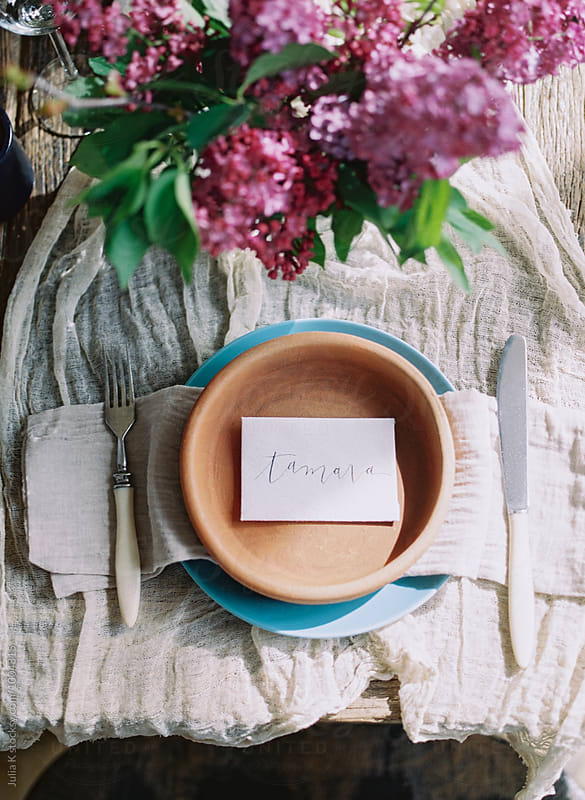 Rustic Table Setting by Julia K for Stocksy United