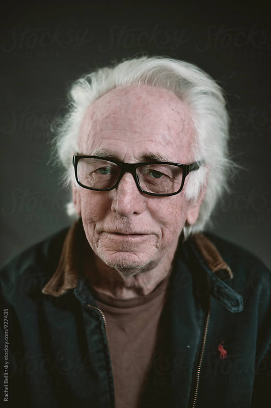 Portrait of an older man by Rachel Bellinsky for Stocksy United