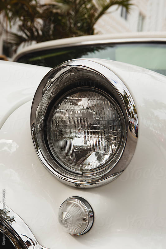 Headlight of Classic Car by Stephen Morris for Stocksy United