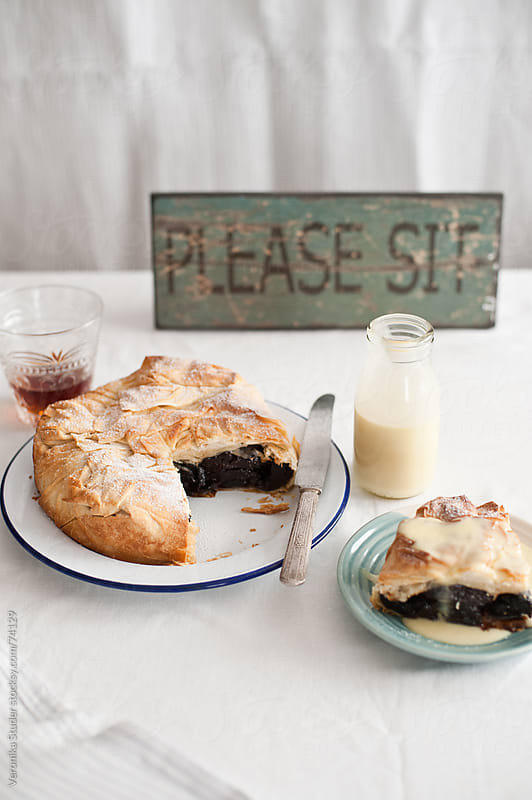 Prune pie by Veronika Studer for Stocksy United