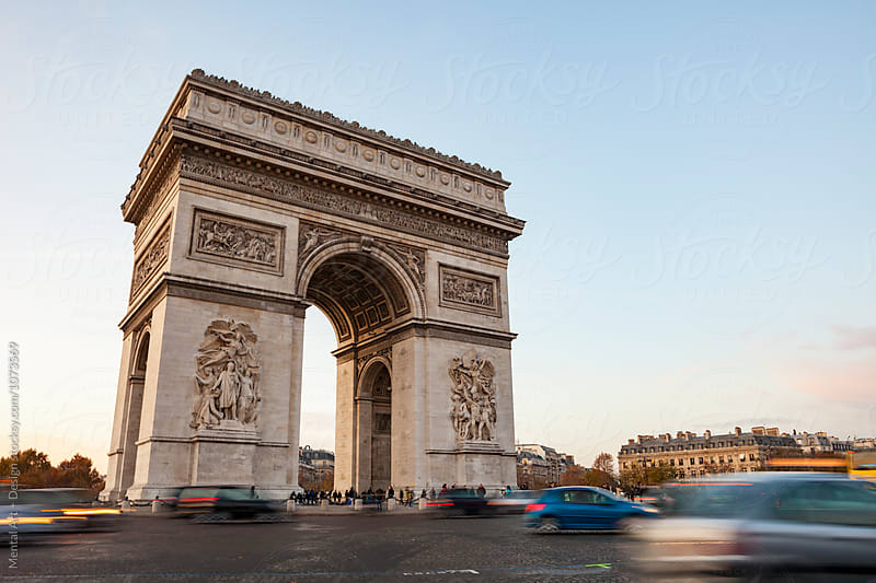 Arc de Triomphe,Paris,France by Mental Art + Design for Stocksy United