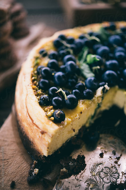 Blueberry cake by Adrian Cotiga for Stocksy United