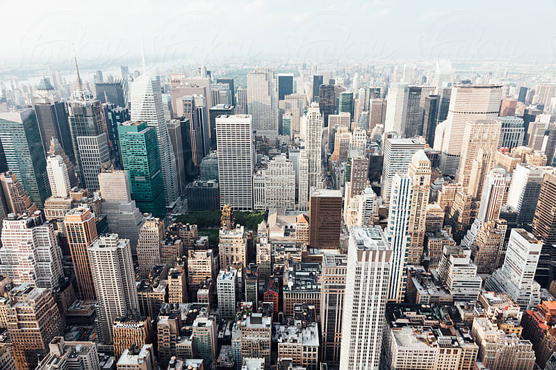 Manhattan from above by Sam Burton for Stocksy United
